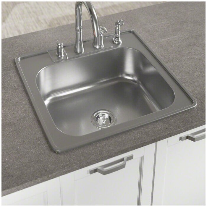 Enjoyable Stainless Steel 25 L X 22 W Drop In Kitchen Sink With Additional Accessories Interior Design Ideas Gentotryabchikinfo
