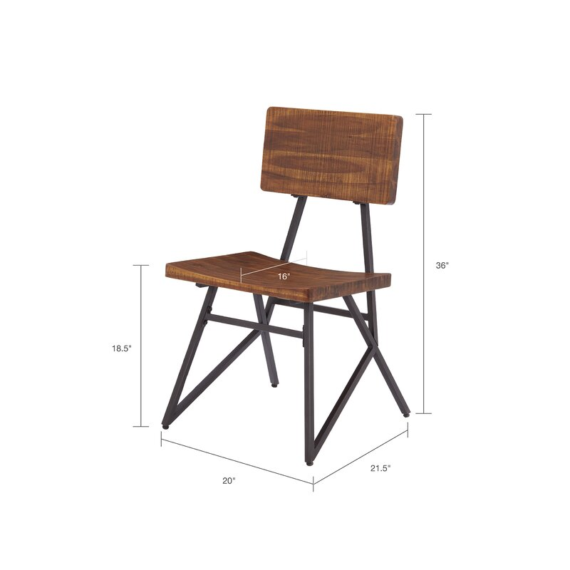 Cesare Solid Wood Dining Chair