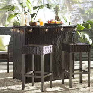 Patio Bar Sets You Ll Love Wayfair Modern Outdoor Table Hallsville 3 Piece