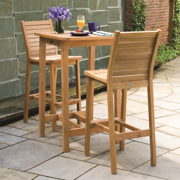 Darby Home Co Shanelle Shorea 3 Piece Bar Height Dining Set | Wayfair