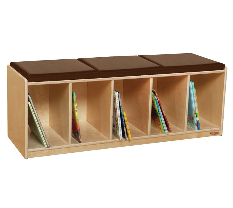 Burlin Reading Wood Storage Bench