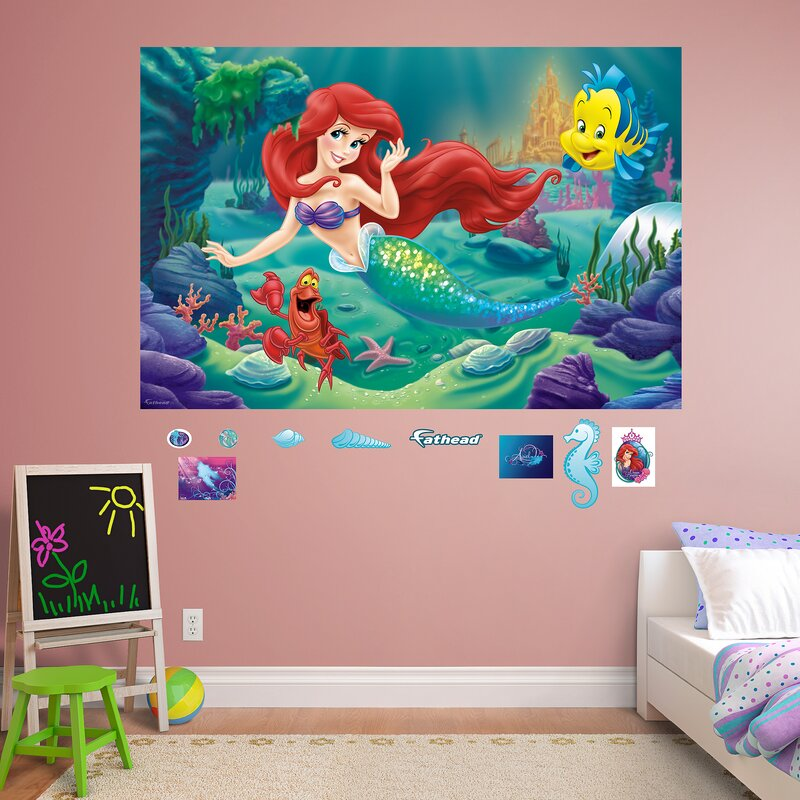 Lovely Disney   The Little Mermaid Peel And Stick Wall Decal Part 19
