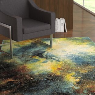 Blue Yellow Area Rug