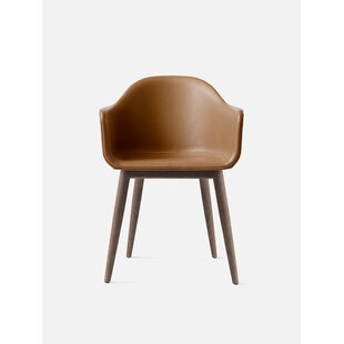 Harbour Genuine Leather Upholstered Dining Chair