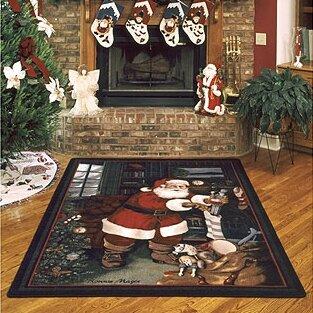 Milliken Winter Seasonal Santa's Visit Christmas Area Rug ...