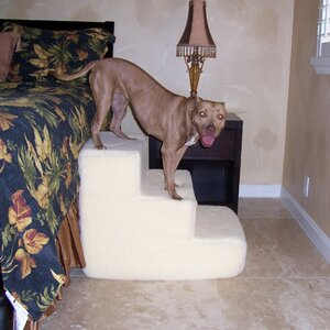 Big Dawg Foam 3 Step Pet Stair With Sherpa Cover
