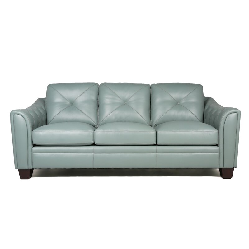 Attirant Chiang Top Grain Leather Sofa