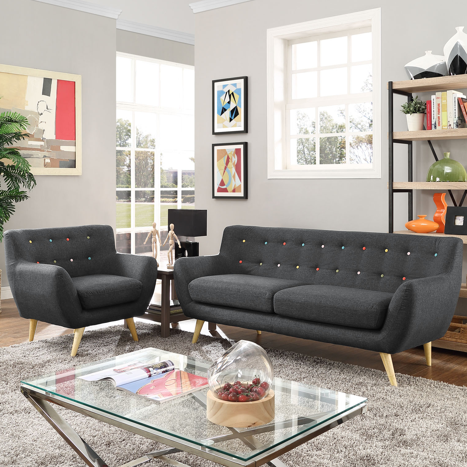 Furniture Living Room Seating Sofas Contemporary