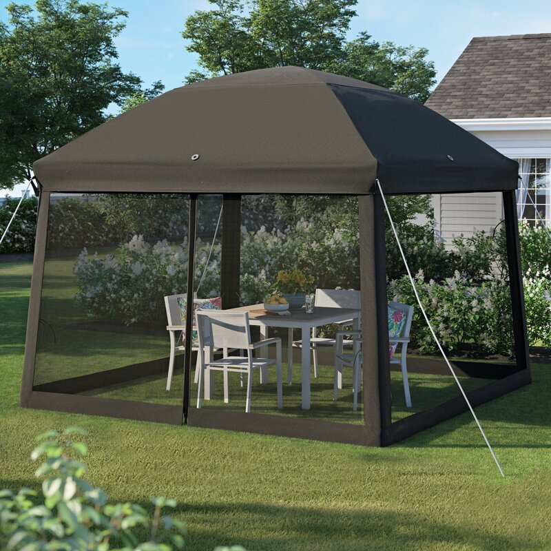 Sol 72 Outdoor Bayport 11 Ft W X D Steel Pop Up Gazebo Reviews Wayfair