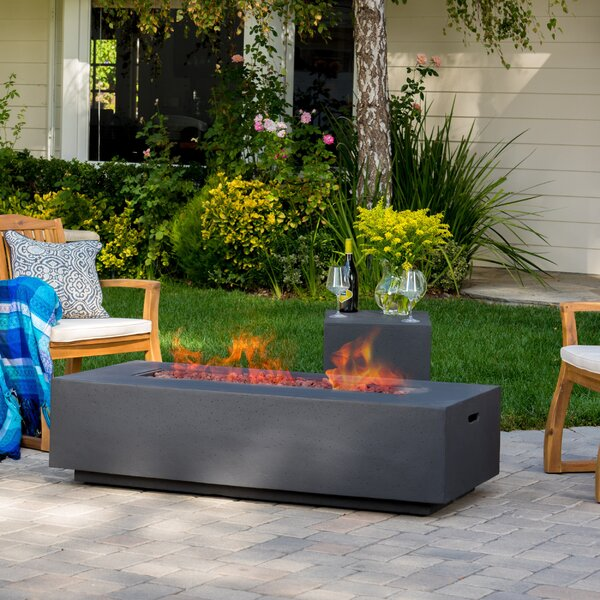 Inch Fire Pit Wayfair - Propane fire pit cocktail table