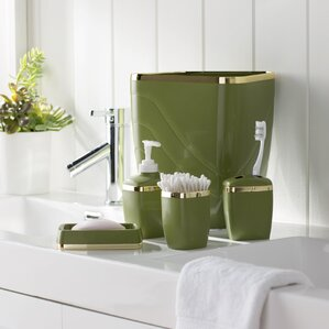 wayfair basics 5 piece bathroom accessory set