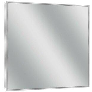Modern Contemporary Polished Nickel Mirror AllModern - Polished nickel bathroom mirror