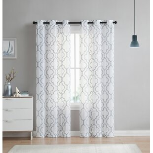 Grey Trellis Curtains