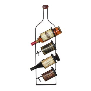 Urban 4 Bottle Wall Mounted Wine Rack