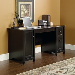 black wooden computer desks you ll love wayfair rh wayfair com dark wood computer desk dark wood computer desk with hutch