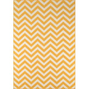 Halliday Traditional Yellow Indoor/Outdoor Area Rug