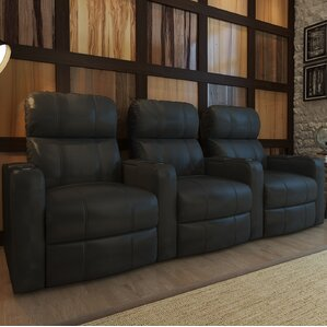 home theater recliner row of 3
