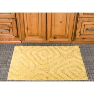 Swirls Cotton Bath Mat