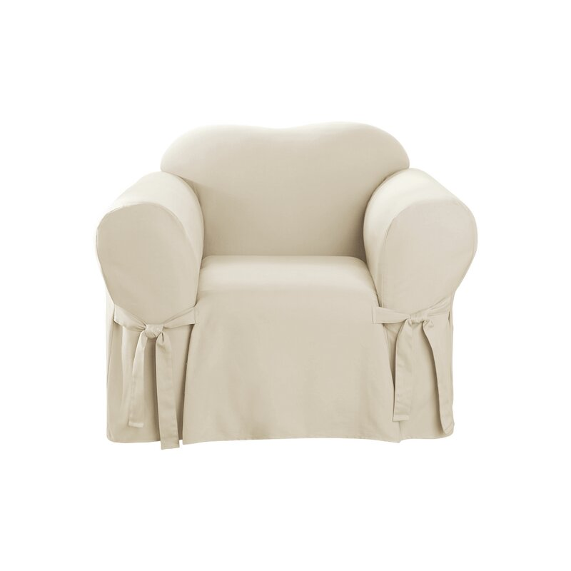 garden cotton parsons today home overstock classic shipping slipcovers free chair pair duck product slipcover