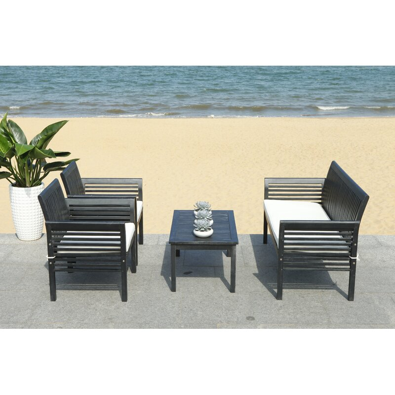 Behr Outdoor 4 Piece Sofa Seating Group With Cushions