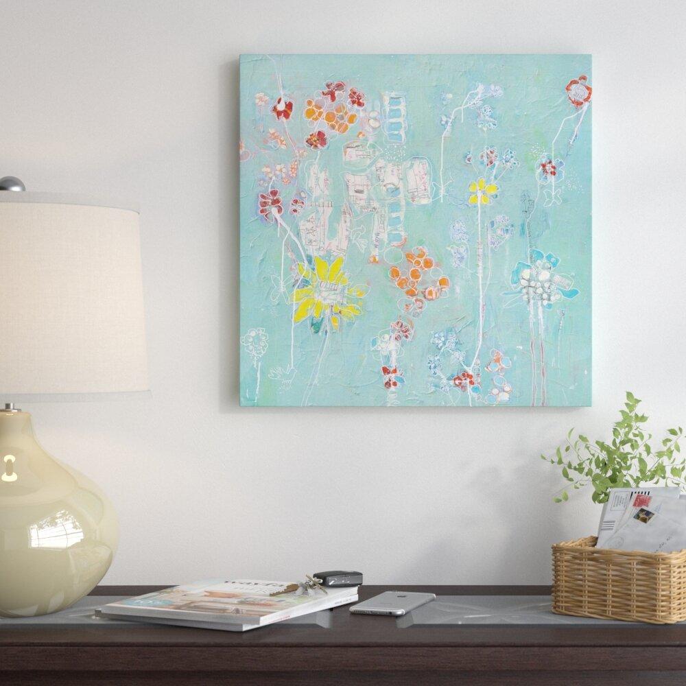 East Urban Home \'Spanish Homework\' Painting Print on Canvas | Wayfair
