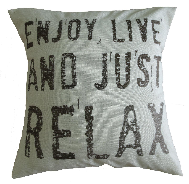Violet Linen Inspirational Quote Decorative Embroidered Print Burlap Pillow Cover Reviews Wayfair