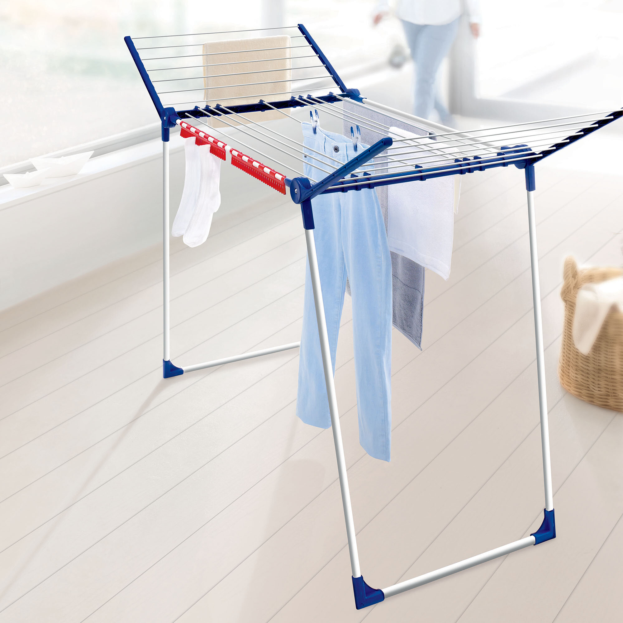 Leifheit Varioline L Winged Clothes Drying Rack With Adjustable