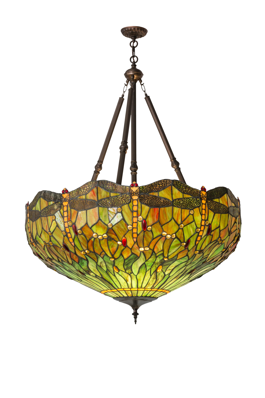 Meyda Tiffany Greenbriar Oak Tiffany Hanginghead Dragonfly 4-Light ...