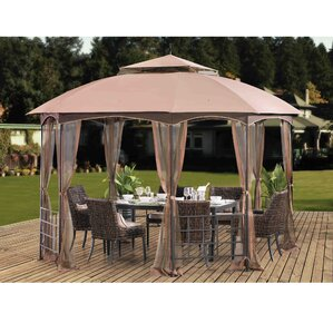 Harley 11 Ft. W X 13 Ft. D Metal Permanent Gazebo