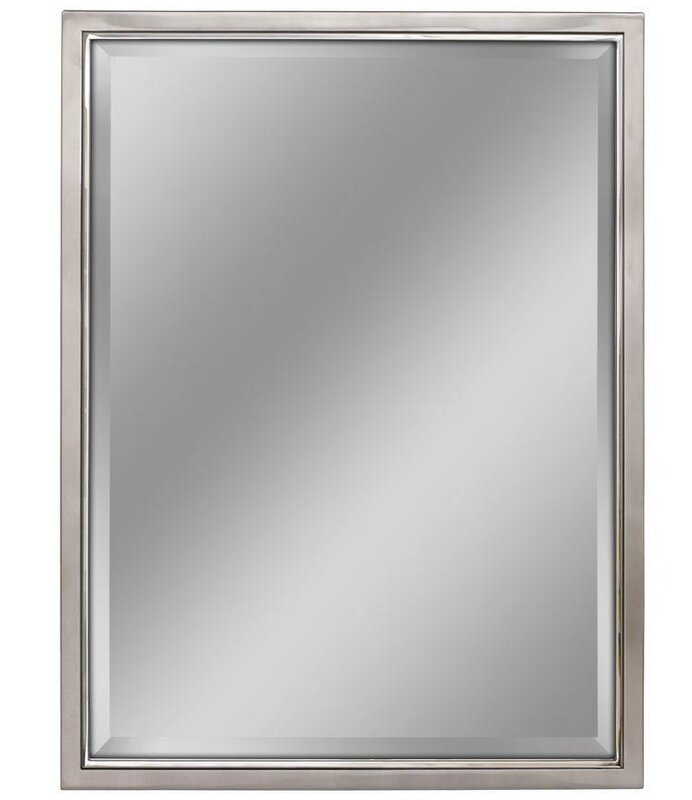 kennith classic metal framed bathroom vanity wall mirror reviews allmodern. Black Bedroom Furniture Sets. Home Design Ideas