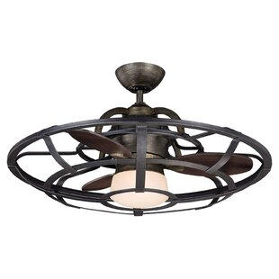 Cottage country ceiling fans youll love wayfair 26 wilburton 3 blade outdoor ceiling fan with remote aloadofball Images