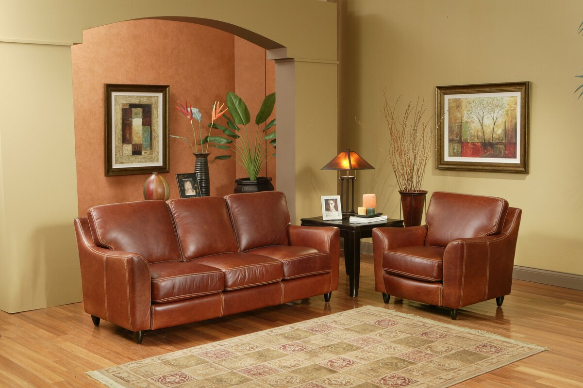 Omnia Leather Great Texas Leather Configurable Living Room Set ...