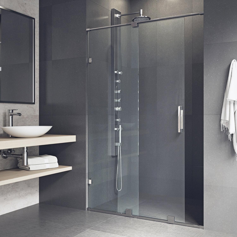 Ryland 64 X 73 Single Sliding Frameless Shower Door