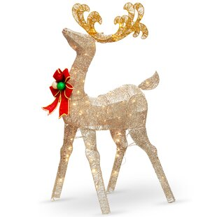reindeer decoration figurine - Indoor Christmas Reindeer Decorations