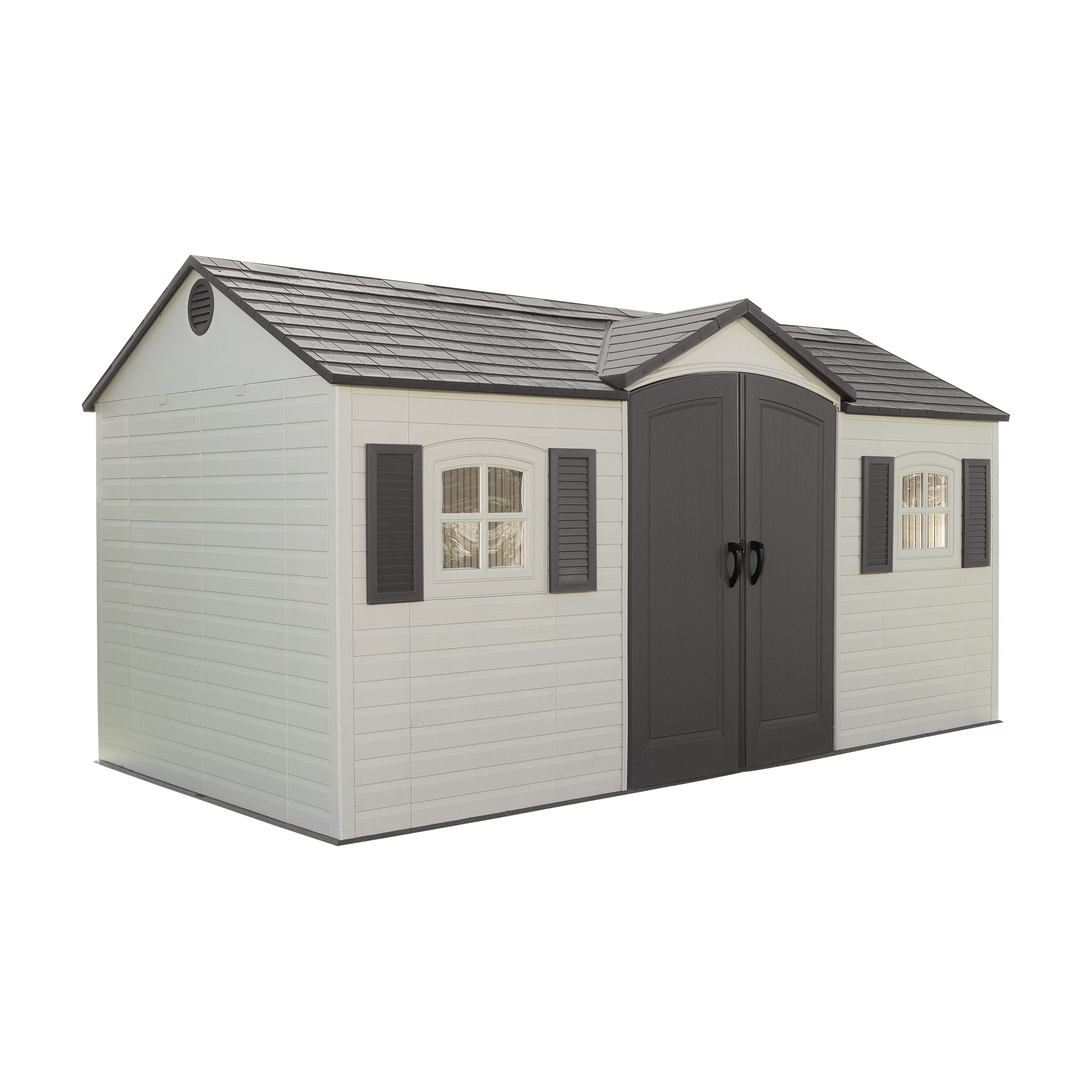Lifetime Side Entry 14 ft. 8 in. W x 7 ft. 9 in. D Plastic Storage Shed &  Reviews | Wayfair