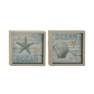 Gentil Polystone Framed Wall Art Set (Set Of 2)