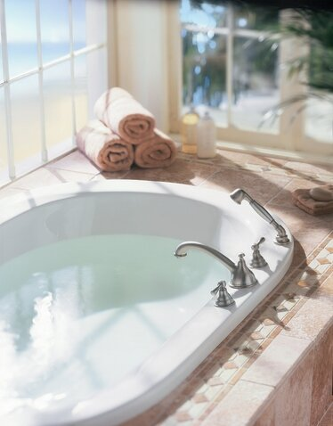 Awesome Kingsley 2 Handle Deck Mount Roman Tub Faucet With Handshower (Valve Not  Included