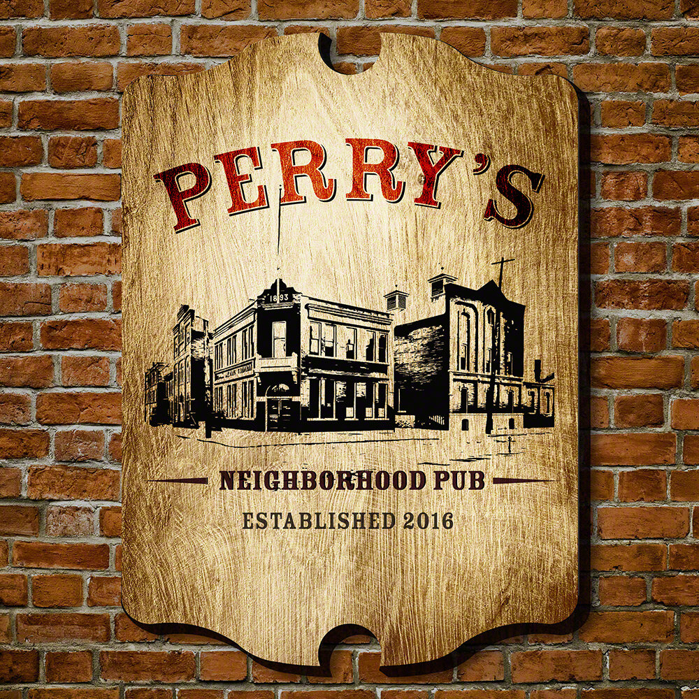 Home Wet Bar Neighborhood Pub Personalized Sign Wall Décor | Wayfair