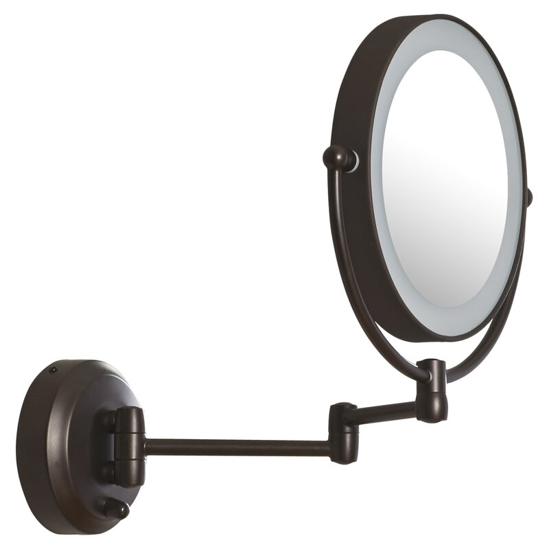 Darby Home Co Aldona Led Lighted 1x10x Magnification Mount Wall