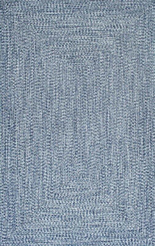 Caleigh Handmade Light Blue Area Rug