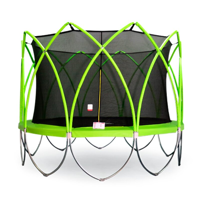 a762fe7bd2534 Spark Trampolines Spark 12  Round Trampoline with Safety Enclosure ...