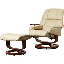 broken tooth standard manual swivel recliner with ottoman