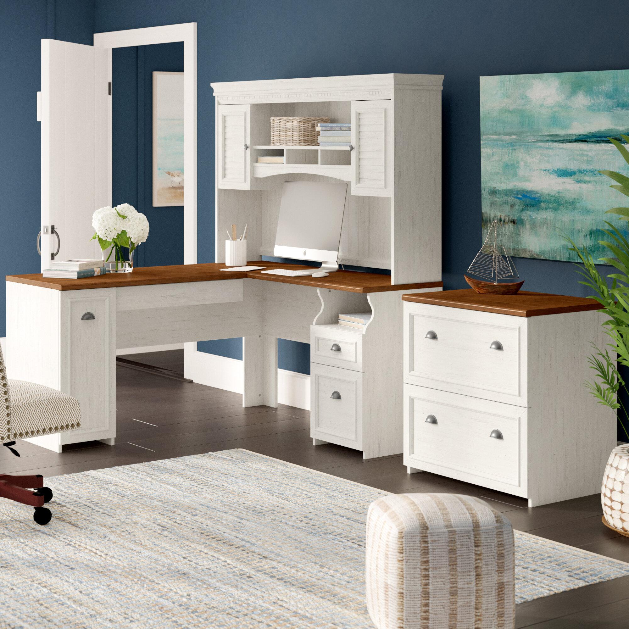 Enjoyable Oakridge 2 Piece Office Set With Hutch Home Interior And Landscaping Ponolsignezvosmurscom
