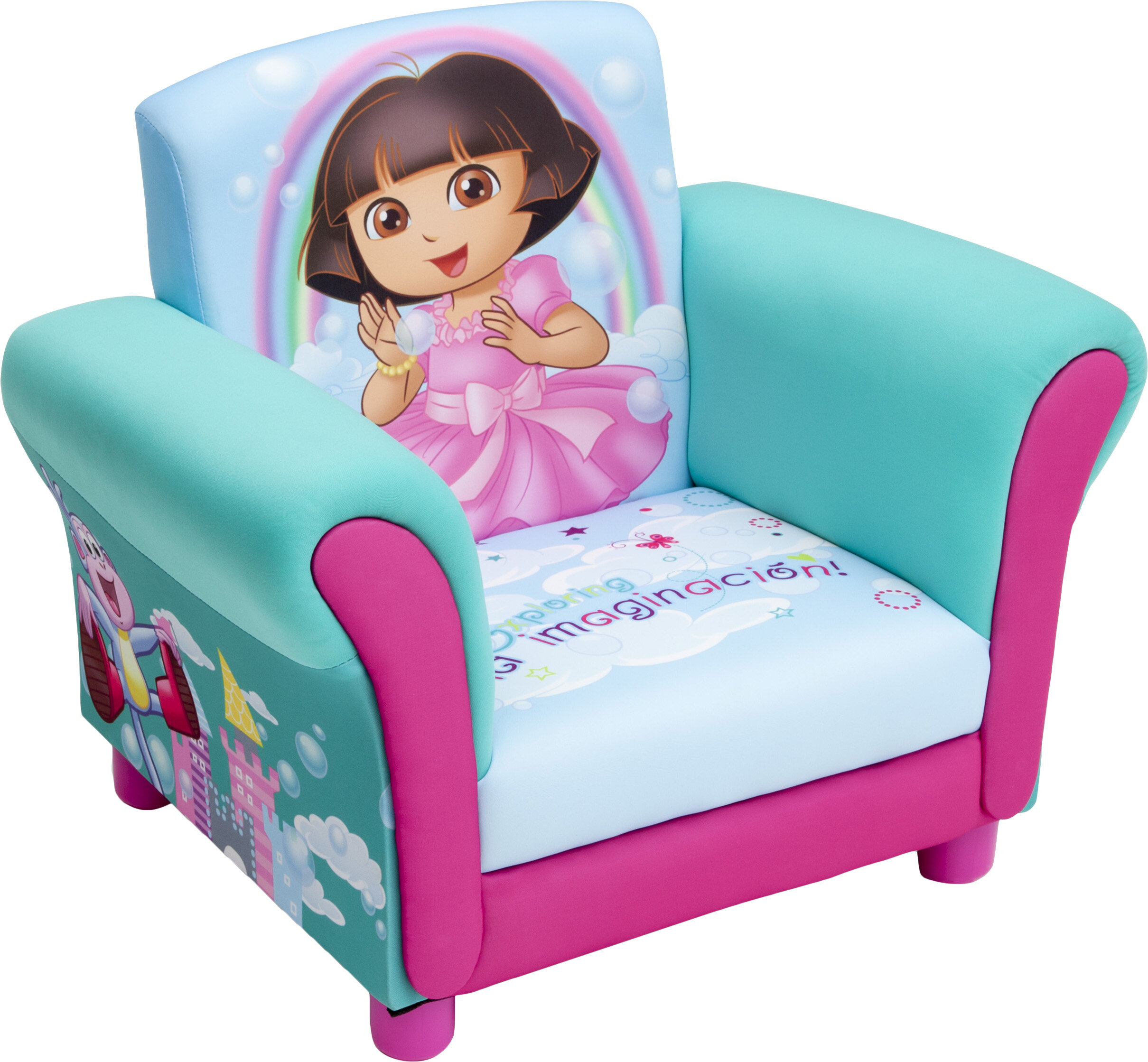 Delta Children Dora Kids Upholstered Club Chair | Wayfair