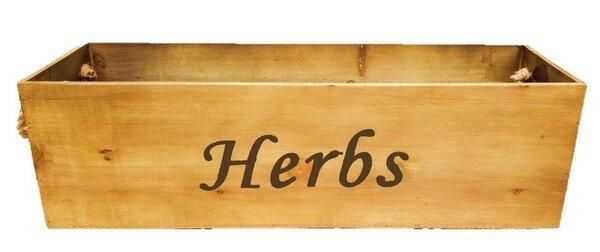 Keane Herbs Wood Planter Box
