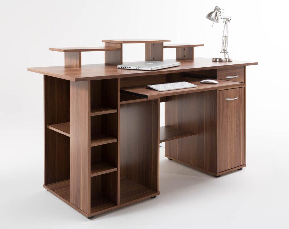 alphason computertisch san diego mit tastaturauszug bewertungen. Black Bedroom Furniture Sets. Home Design Ideas