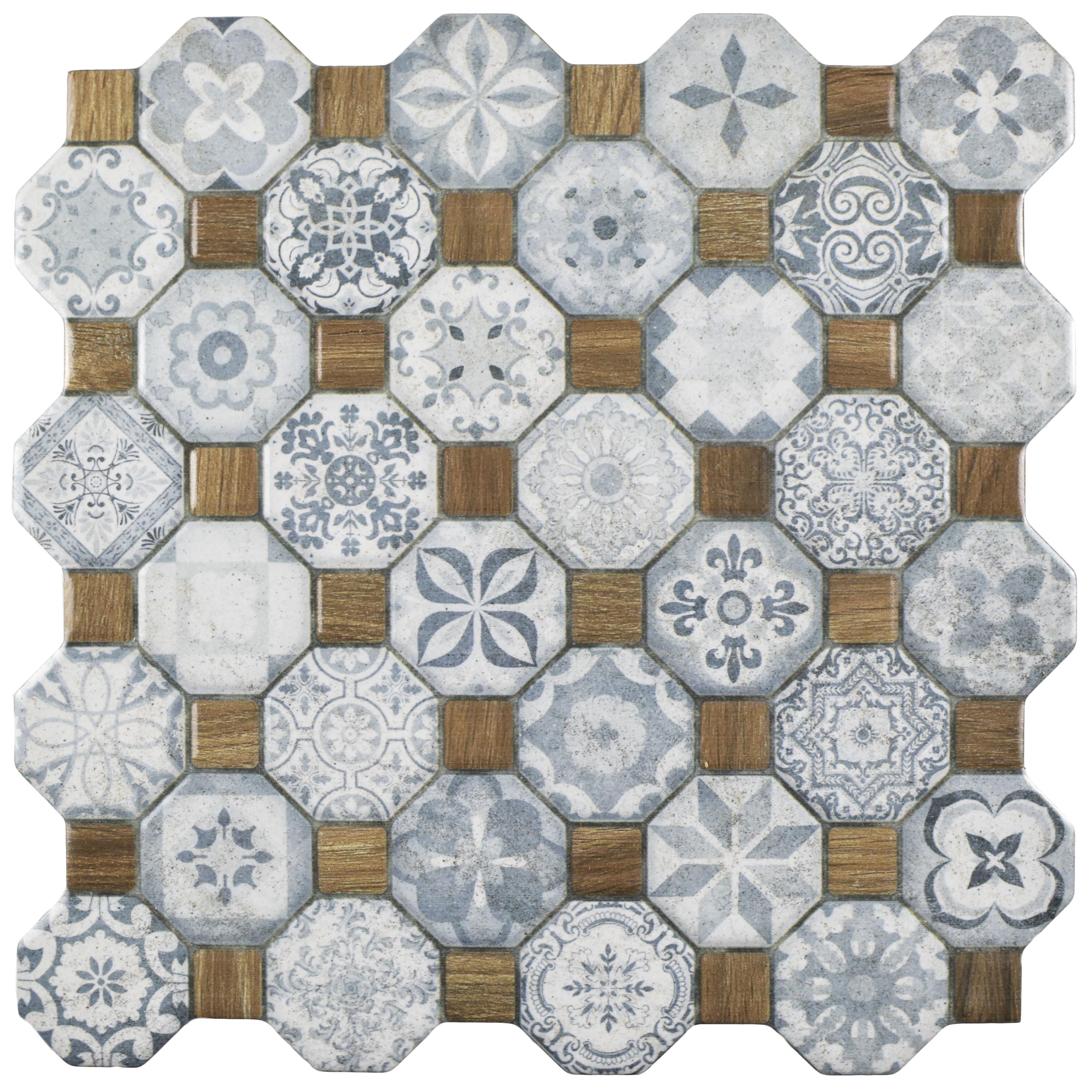 Elitetile Edredon 1225 X 1225 Ceramic Tile In Bluegray Wayfair