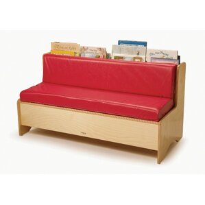 Comfy Reading Center Kids Sofa with Storage Compartment by Whitney Brothers