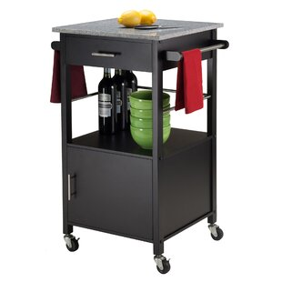 Davenport Kitchen Cart with Granite Top