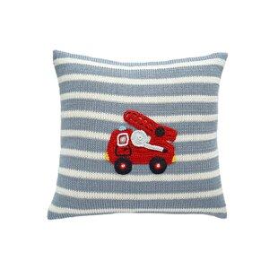 Summers Fire Truck Cotton Throw Pillow
